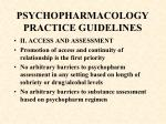psychopharmacology practice guidelines64