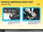 starter amperage draw test step by step cont