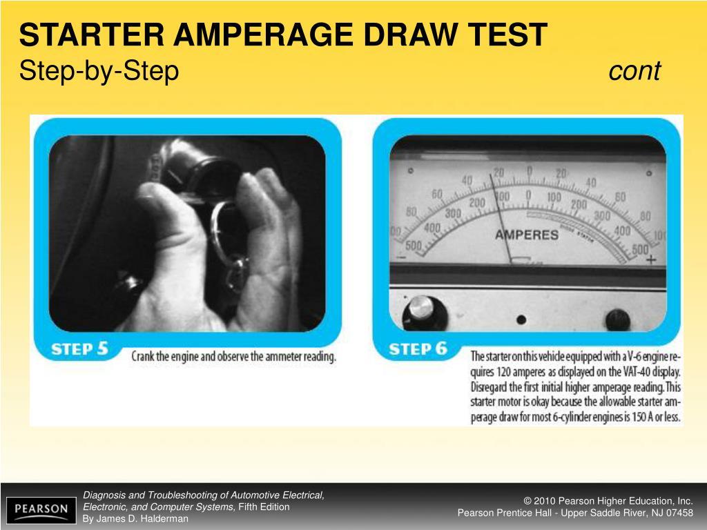 STARTER AMPERAGE DRAW TEST