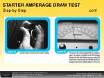 starter amperage draw test step by step cont38