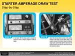 starter amperage draw test step by step
