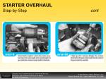 starter overhaul step by step cont46