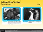 voltage drop testing step by step cont