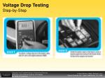 voltage drop testing step by step