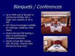 banquets conferences