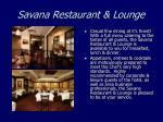 savana restaurant lounge