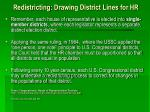 re districting d rawing district lines for hr