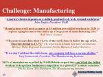 challenge manufacturing