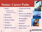 status career paths