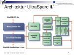 architektur ultrasparc ii i