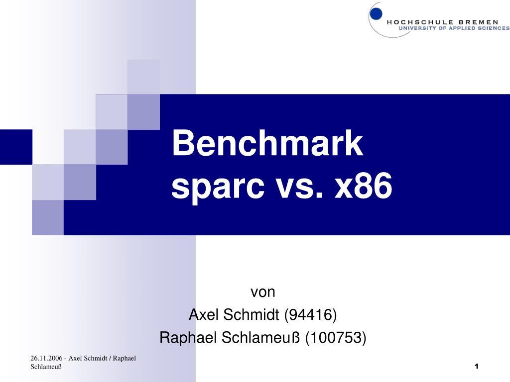 benchmark sparc vs x86 l.