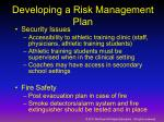 developing a risk management plan