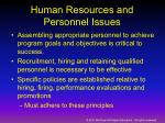 human resources and personnel issues