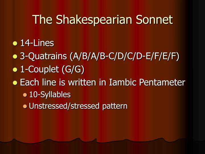 The shakespearian sonnet1