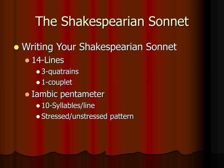 The Shakespearian Sonnet