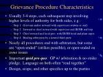 grievance procedure characteristics