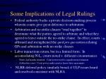 some implications of legal rulings