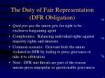 the duty of fair representation dfr obligation