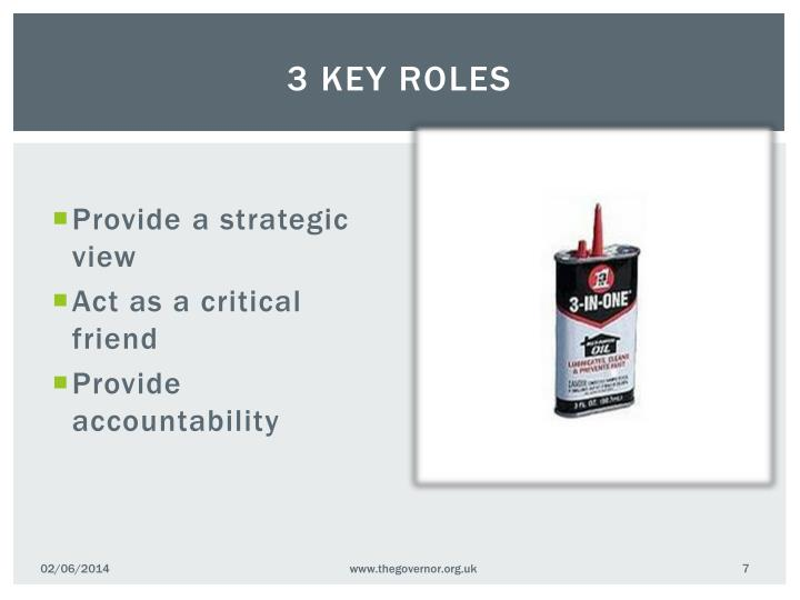 3 key roles