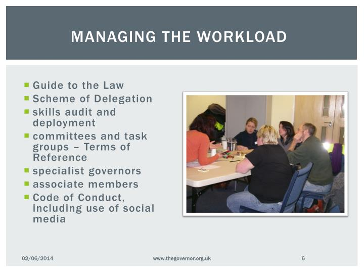 Managing the workload