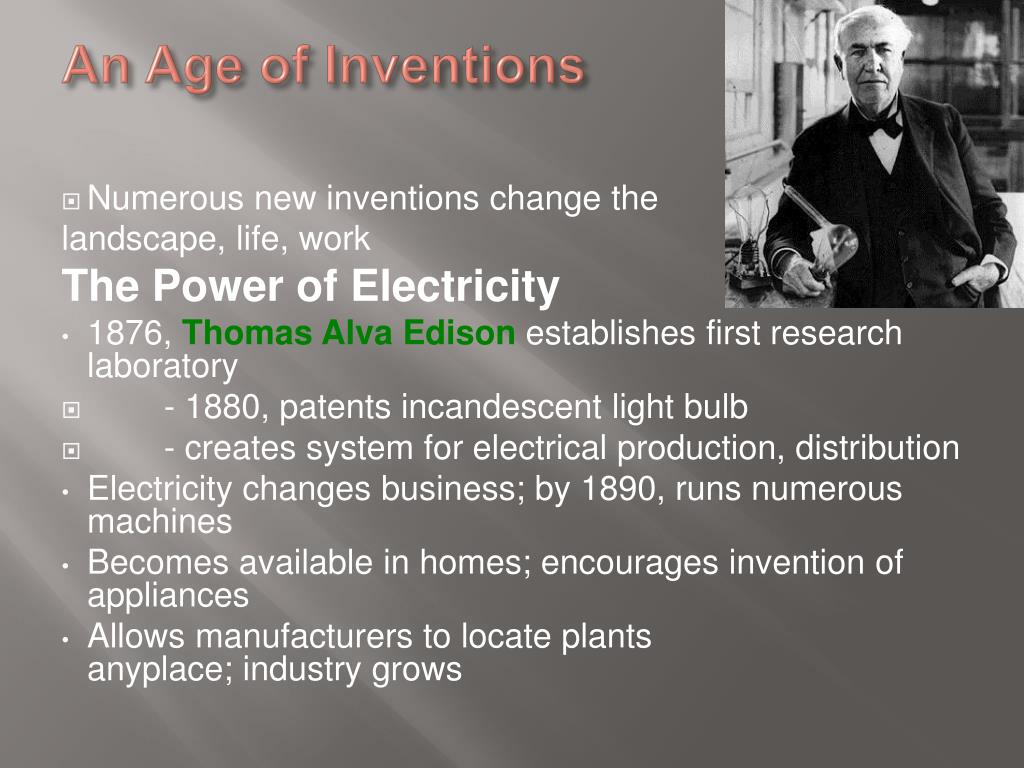 An Age of Inventions