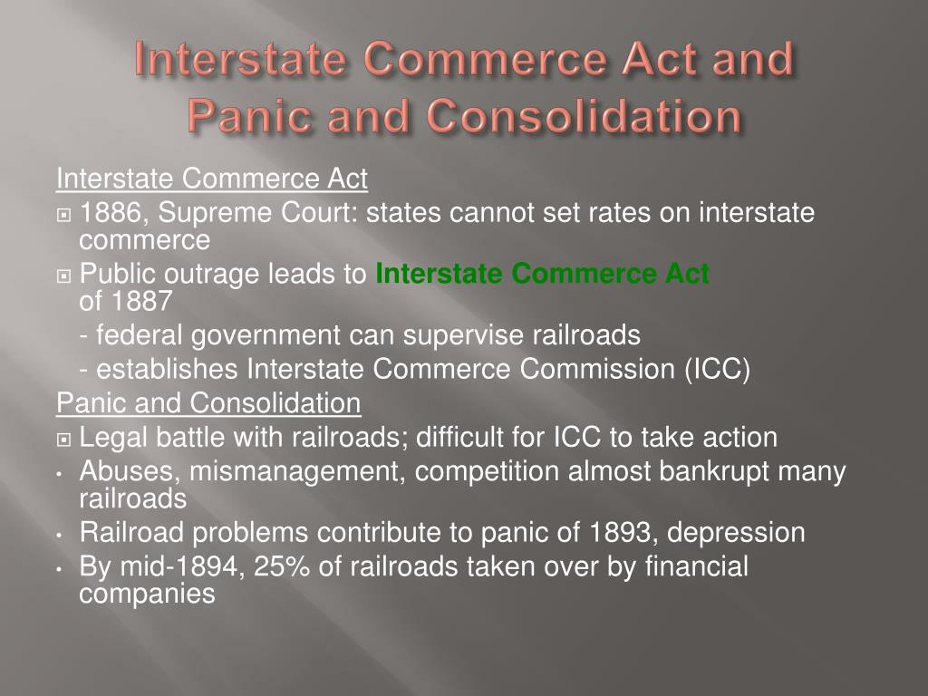 Interstate Commerce Act and