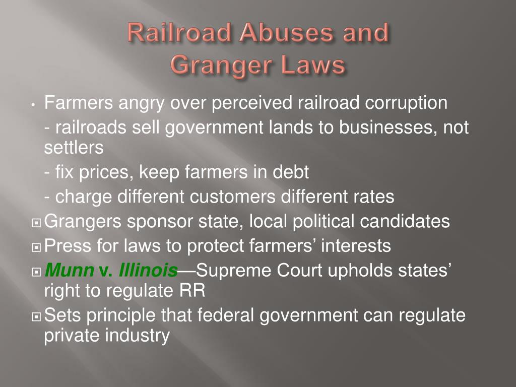 Railroad Abuses and