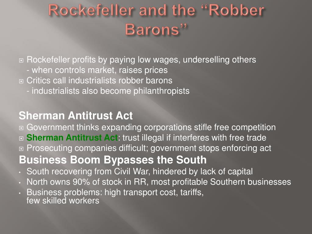 """Rockefeller and the """"Robber Barons"""""""