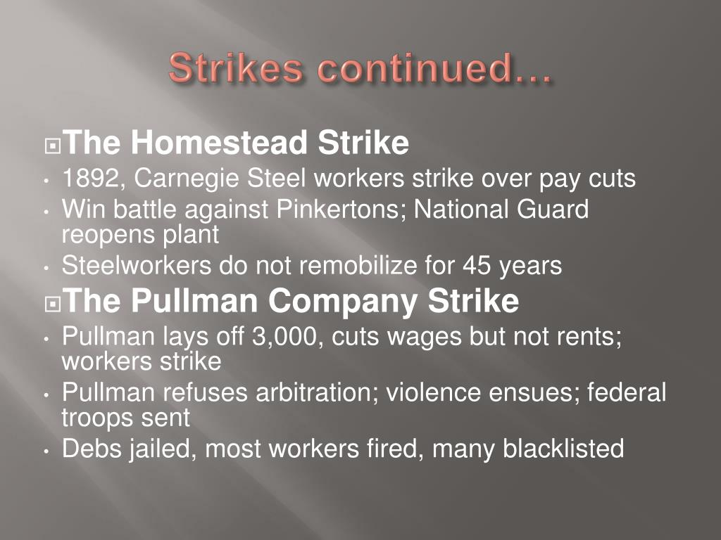 Strikes continued…