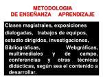 metodologia de ense anza aprendizaje