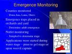 emergence monitoring
