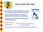 how to use this tool11