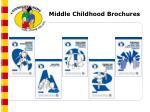 middle childhood brochures