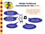 middle childhood counseling for the child