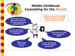 middle childhood counseling for the parent