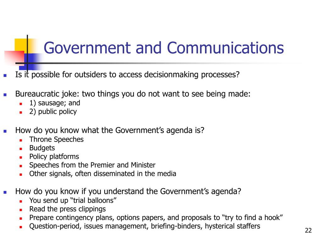 Government and Communications