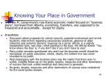 knowing your place in government