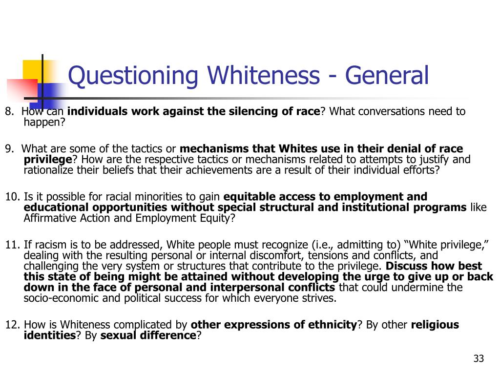 Questioning Whiteness - General