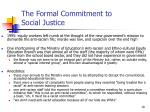 the formal commitment to social justice