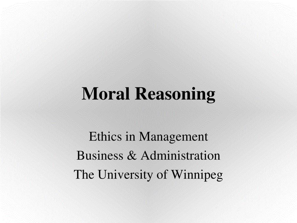 moral reasoning l.