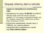 dopady reformy dan a odvod