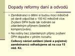 dopady reformy dan a odvod27