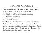 marking policy