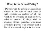 what is the school policy