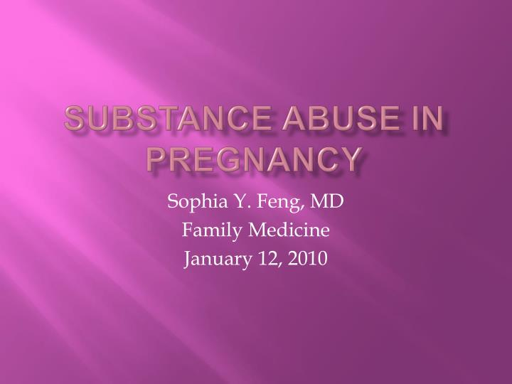 substance abuse in pregnancy n.