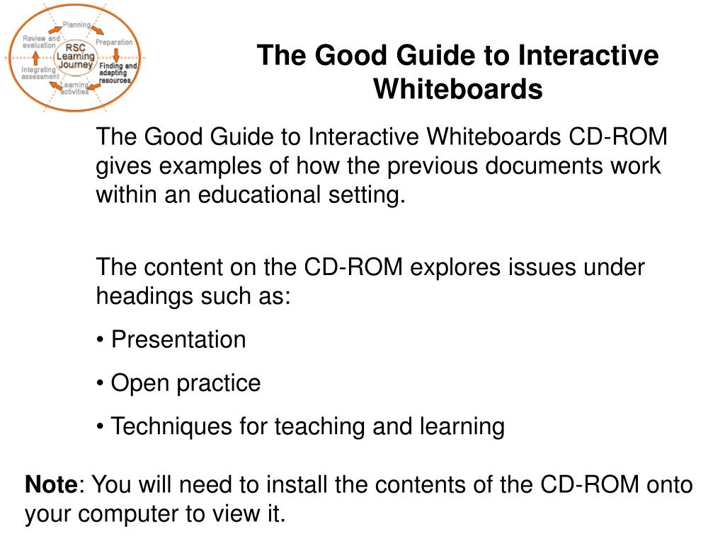 The Good Guide to Interactive Whiteboards