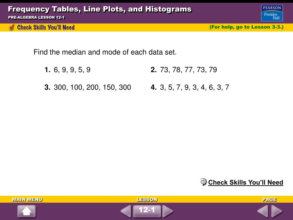 frequency tables line plots and histograms l.