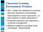 classroom learning environment premises