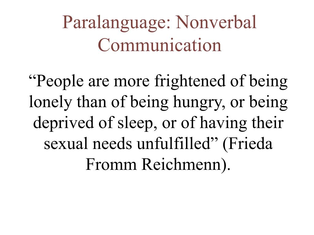 paralanguage nonverbal communication l.