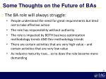 some thoughts on the future of bas